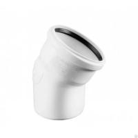 Отвод канализационный однораструбный 15°, Uponor Decibel