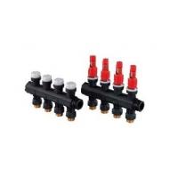 Коллектор Q&E (пара) с балансировочными клапанами LS, Uponor Vario Plus
