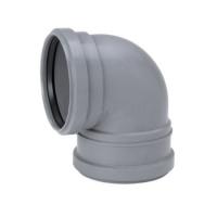 Отвод канализационный однораструбный удлиненный 88,5°, Uponor Decibel
