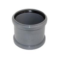 Соединительный патрубок ПП/Чугун 110/100мм, серый, Uponor