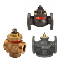 Клапаны для автоматизации тепловых пунктов и центральных вентиляционных установок