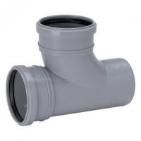Тройник канализационный двухраструбный 88,5°, Uponor Decibel